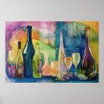 Poster de los vinos de California