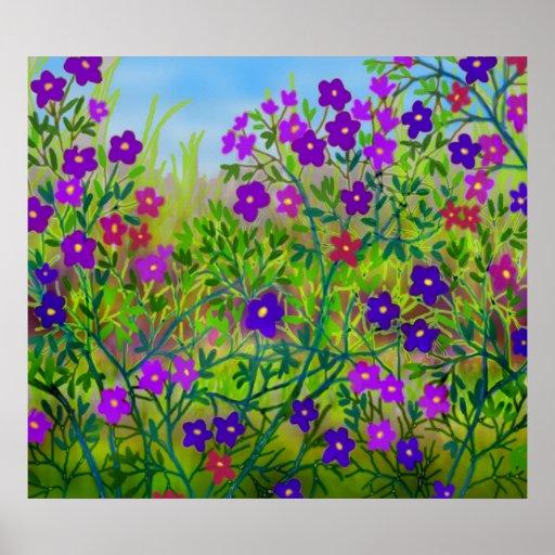 Poster de los Wildflowers del borde de la
