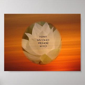 "Poster de Lotus ""Nam Myoho Renge"" Kyo"
