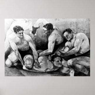 POSTER DE LUCHA 1942 DEL CARNAVAL DEL ACTO