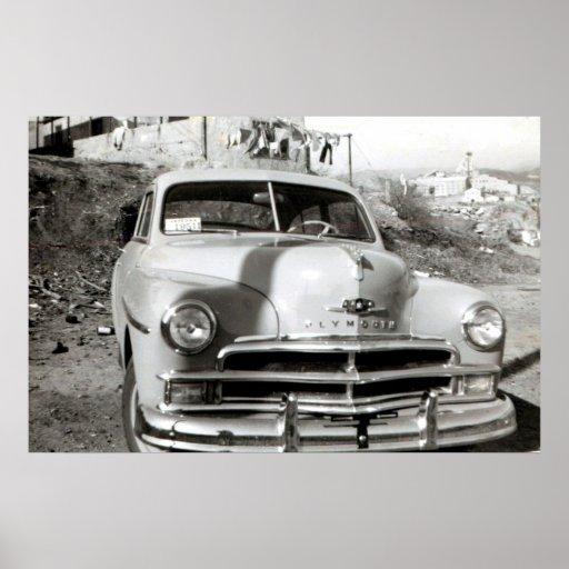 Poster de lujo 1950 de Plymouth
