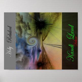 Poster de lujo de la tierra de Kandi