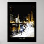 Poster de lujo del invierno de Chicago
