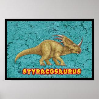 Poster de lujo del Styracosaurus