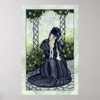 Poster de luto del jardín