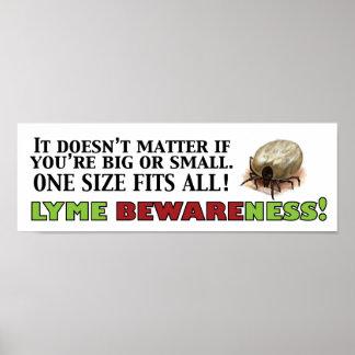 Poster de Lyme Bewareness con la señal