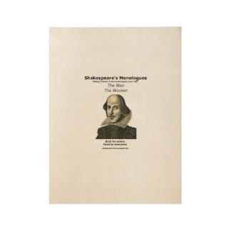 """Poster """"de madera"""" de los monólogos de Shakespeare Póster De Madera"""