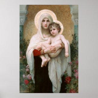 Poster de Madonna y del niño