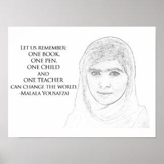 Poster de Malala Yousafzai