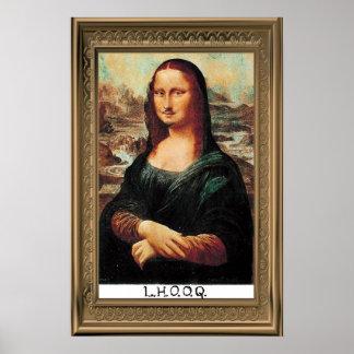 Poster de Marcel Duchamp LHOOQ