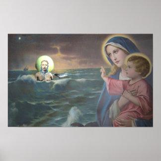 Poster de Maria y del altar de Yemaya