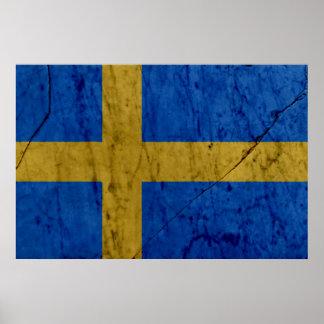Poster de mármol de la pared de piedra de Suecia