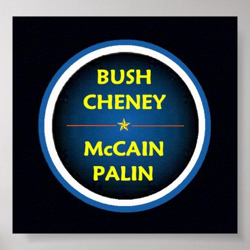 Poster de McCain Palin BUSH