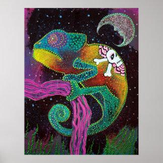 Poster de medianoche del camaleón