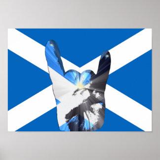 Poster de metales pesados escocés del arte pop