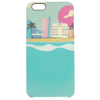 Poster de Miami de los años 80 del vintage Funda Clear Para iPhone 6 Plus
