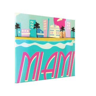 Poster de Miami de los años 80 del vintage Impresion De Lienzo