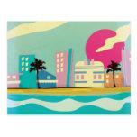 Poster de Miami de los años 80 del vintage Postal