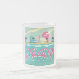 Poster de Miami de los años 80 del vintage Taza De Cristal
