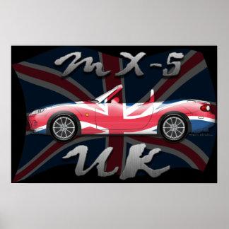 Poster de Miata MX-5 Reino Unido MK III