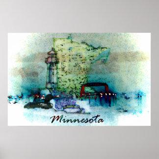 Poster de Minnesota Póster