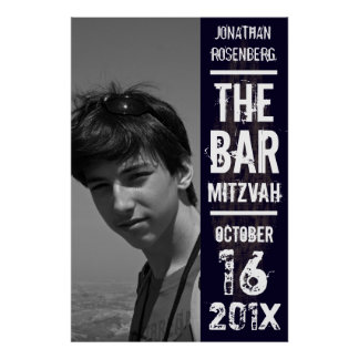 Poster de Mitzvah de la barra de la banda de rock
