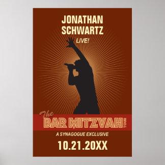 Poster de Mitzvah de la barra de la estrella del r