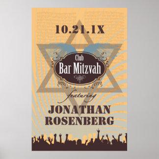 Poster de Mitzvah de la barra del club