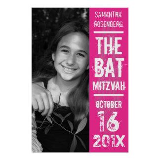 Poster de Mitzvah del palo de la banda de rock en