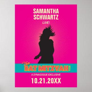 Poster de Mitzvah del palo de la estrella del rock