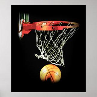 Poster de moda especial único del baloncesto