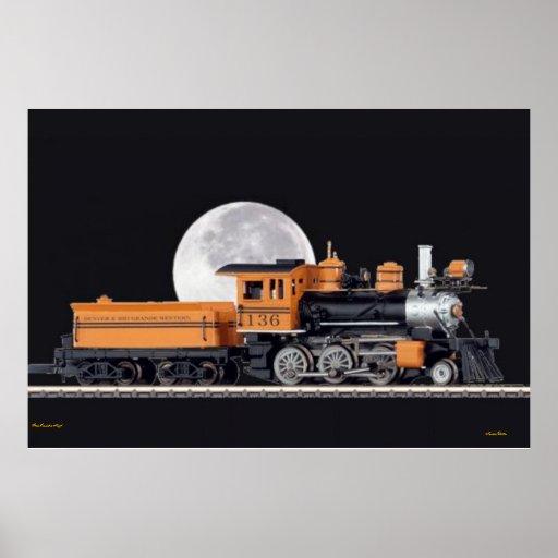 Poster de Mogule de la locomotora de vapor