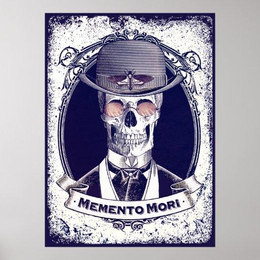 Poster de Mori del recuerdo del cráneo del vintage