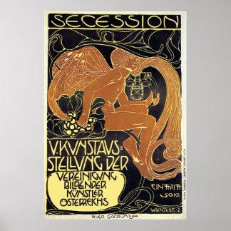 Poster de Moser:  Exposición de arte de la secesió