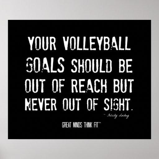 Poster de motivación 011 del voleibol - Grunge
