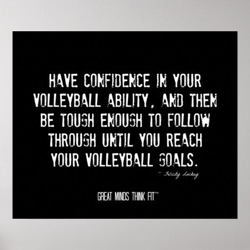 Poster de motivación 017 del voleibol - Grunge
