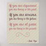 Poster de motivación 8,5 x 11 de la cita de Tzu de