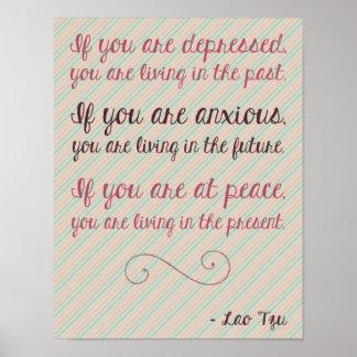 Poster de motivación 8 5 x 11 de la cita de Tzu de
