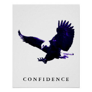 Poster de motivación blanco azul de la confianza