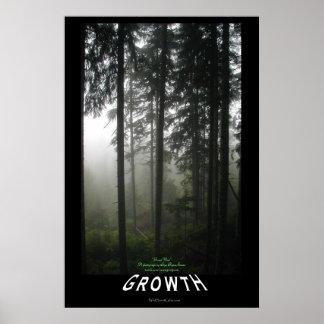 """Poster de motivación brumoso de la foto del """"creci"""