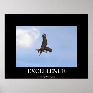 Poster de motivación calvo de Eagle de la excelenc