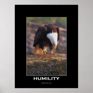 Poster de motivación calvo de Eagle de la HUMILDAD Póster