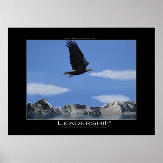 Poster de motivación calvo enorme de Eagle de la