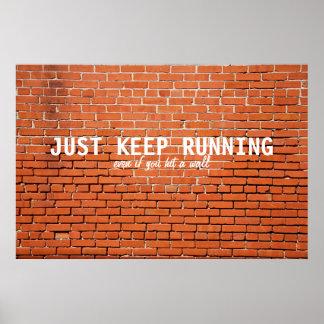 Poster de motivación corriente