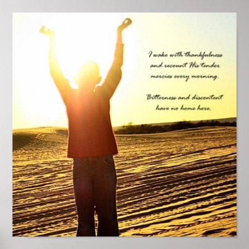 Poster de motivación cristiano - salida del sol de