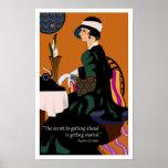Poster de motivación de Agatha Christie