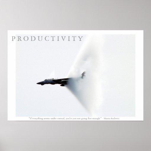Poster de motivación de Andretti del aeroplano de