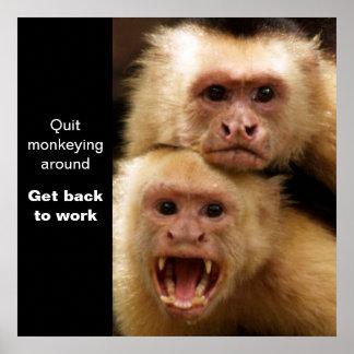 Poster de motivación de dos monos