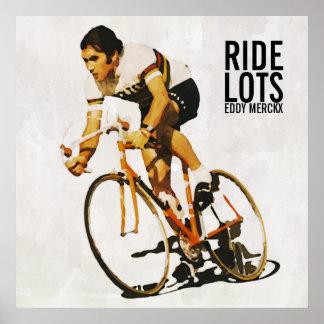 Poster de motivación de Eddy Merckx Póster