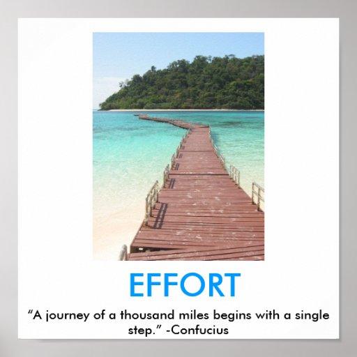 Poster de motivación de ESFUERZO